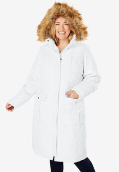 The Arctic Parka™ in Knee Length, WHITE