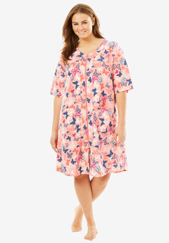 Short French Terry Robe by Dreams & Co®,