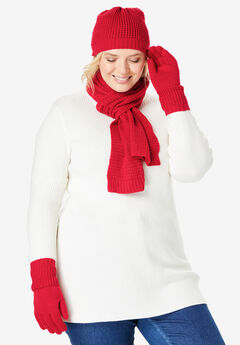 3-Piece Waffle Knit Cold-Weather Set,