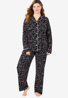 2-Piece Classic Pajama Set By Dreams & Co.®, BLACK PINK DREAM