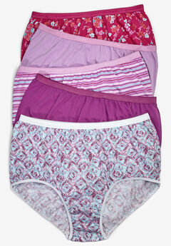 5-Pack Pure Cotton Full-Cut Brief by Comfort Choice®, PAISLEY GEO PACK