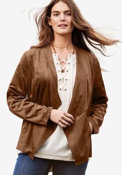 790de94d07b Cascade front jacket. Woman Within