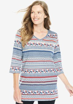 Perfect Print V-Neck Tunic,