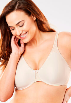 Bali® Passion For Comfort Minimizer Underwire Bra 3385, SOFT TAUPE CHECK