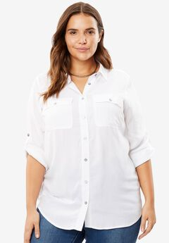 Utility Button Down Shirt,