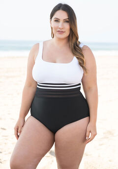 Mesh Band One-Piece by Nautica,