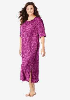 Long Marled Sleepshirt by Dreams & Co.®, RICH MAGENTA