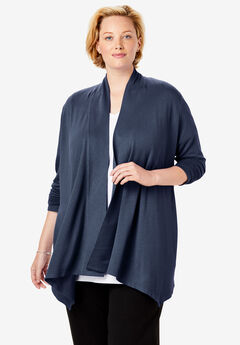 Everywear Essentials™ Open Front Cardigan,