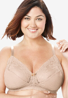 Smooth Lace Wireless Bra by Comfort Choice®, NUDE