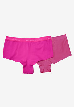 2-Pack Stretch Cotton Hipster by Comfort Choice®, PINK PACK