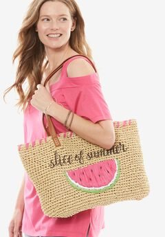 Shore Thing Straw Tote,