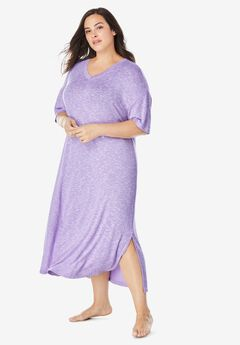 Long Marled Sleepshirt by Dreams & Co.®, SOFT IRIS