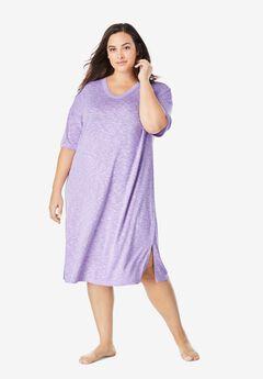 Short Marled Sleepshirt by Dreams & Co.®, SOFT IRIS