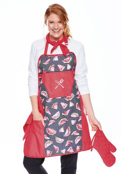 Four-piece barbecue apron set,