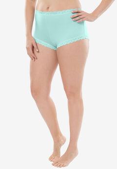 Comfort Choice® Lace-trim Cheeky Boyshort,