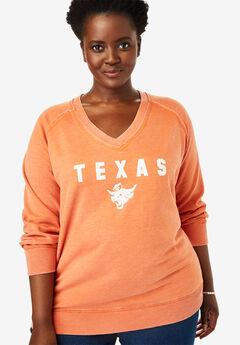 NCAA Team Washed V-Neck Fleece Sweatshirt,