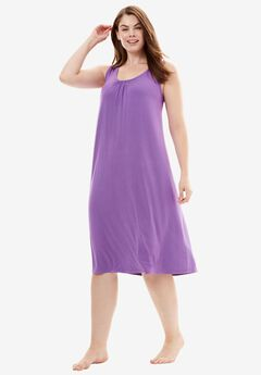 Strappy Jersey Chemise,