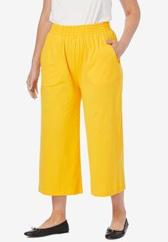 Jersey Knit Wide Leg Pant,