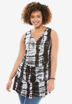 Sleeveless Tie-Dye Tunic,