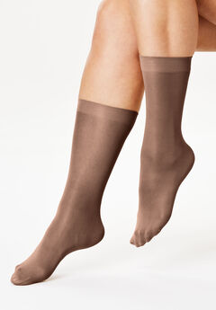 3-Pack Knee-High Compression Socks by Comfort Choice®, CARAMEL SUGAR