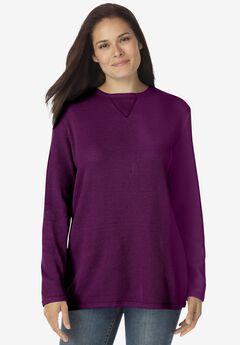 Thermal Sweatshirt, PLUM PURPLE
