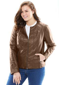 Faux Leather Jacket,
