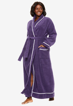 Spa Terry Long Wrap Robe by Dreams & Co.®, RICH VIOLET