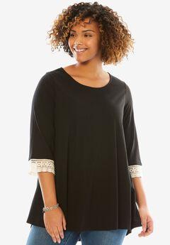 Crochet sleeve tunic,