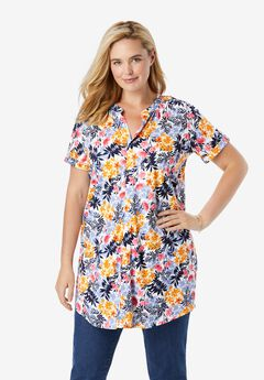 Roll-Tab High-Low Tunic,