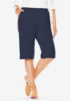 7-Day Knit Bermuda Shorts, NAVY