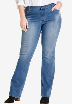 Low-Rise Stretch Bootcut Jean, LIGHT STONEWASH SANDED