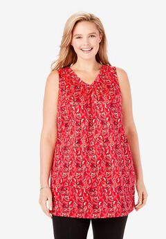 Perfect Printed Sleeveless Tunic,