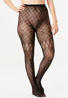 2-Pack Patterned Tights, DIAMOND STRIPE