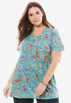 Lace-up Babydoll Tunic by Chelsea Studio®,