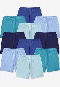 Comfort Choice® 10-Pack Cotton Boyshort, BLUE MULTI PACK