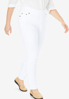 Smooth Waist Skinny Jean, WHITE