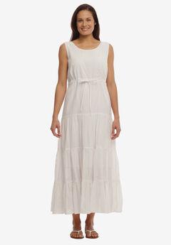 Triple Tiered Sleeveless Maxi Dress,