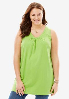 V-Neck Sleeveless Perfect Tunic,