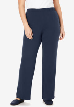 7-Day Knit Wide Leg Pant, NAVY