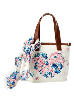 The Flower Power  Satchel & Scarf,
