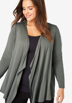 373f5f3bded Simply Special Knit Open Front Cardigan. Woman Within