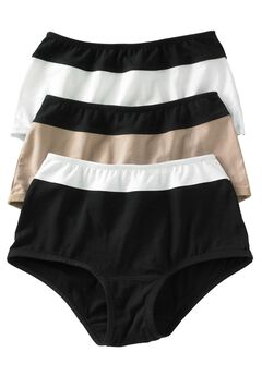 3-Pack Color Block Full-Cut Brief by Comfort Choice®,