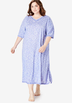 Long Marled Sleepshirt by Dreams & Co.®, BLUE SAPPHIRE