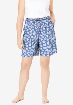 Print Pajama Shorts by Dreams & Co.®,