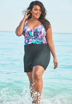 Underwire Swim Dress, BOLD FLORAL