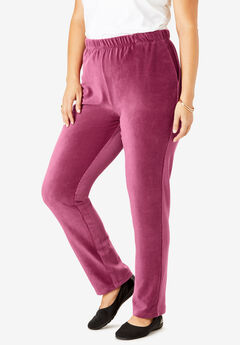 Ribbed Straight Leg Pant, DEEP CRANBERRY