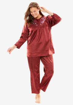 Brushed Satin PJ Set by Only Necessities®,