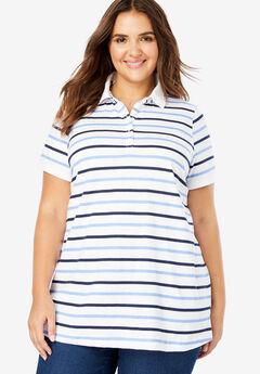 Perfect Printed Polo Shirt, FRENCH BLUE MULTI STRIPE