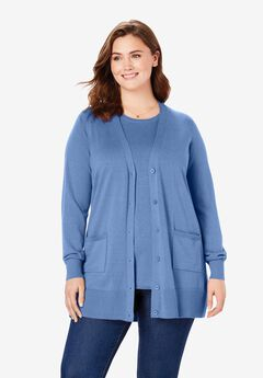 The Cotton Perfect Boyfriend Cardigan, FRENCH BLUE
