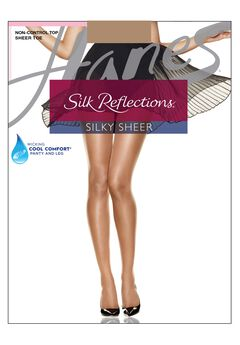 Hanes Silk Reflections Silky Sheer Non-Control Top Sheer Toe 6-Pack,